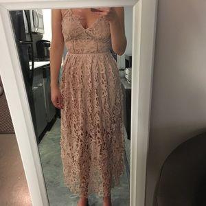 Vintage Lace Light Pink Dress